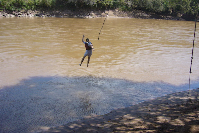 Tarapoto Adventure Excursions - Rope Swing - Splashdown.JPG