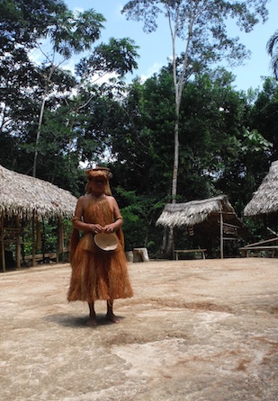 Yagua Indigenous Amazon Tribe - Traditional Garb
