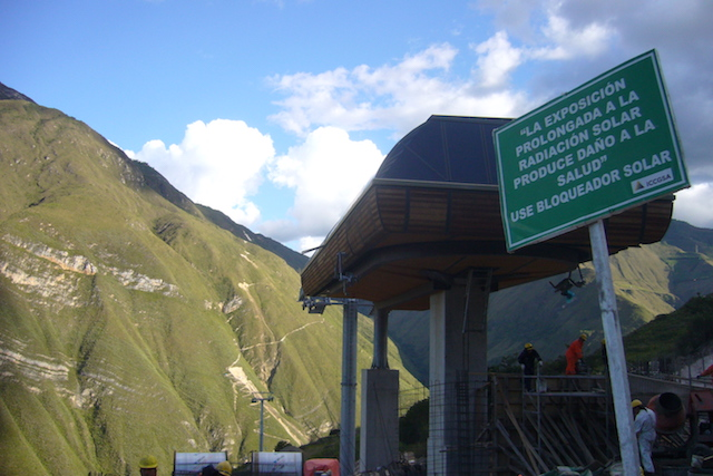 Kuelap Cable Car - Lower Station Looking up.JPG