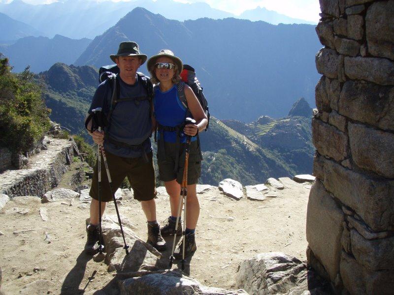 Inca Trail Extension - Arrival at Inti Punku.JPG