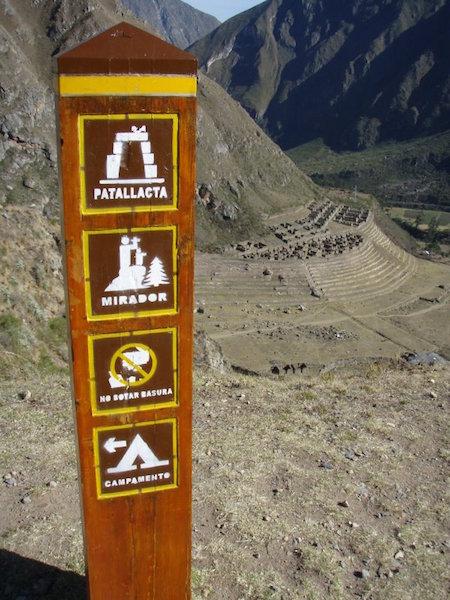 Inca Trail Extension - Patallacta & Signpost.JPG