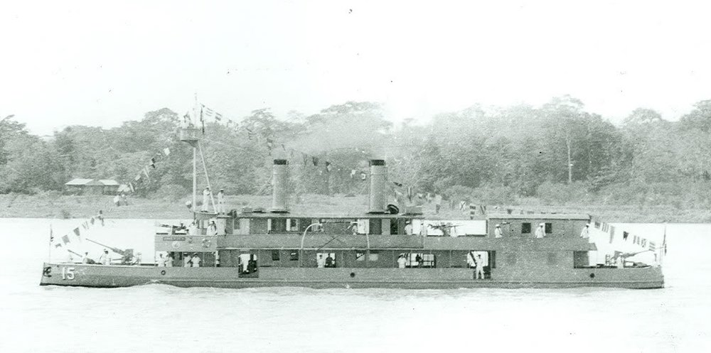 The B.A.P America in her gunboat heyday.