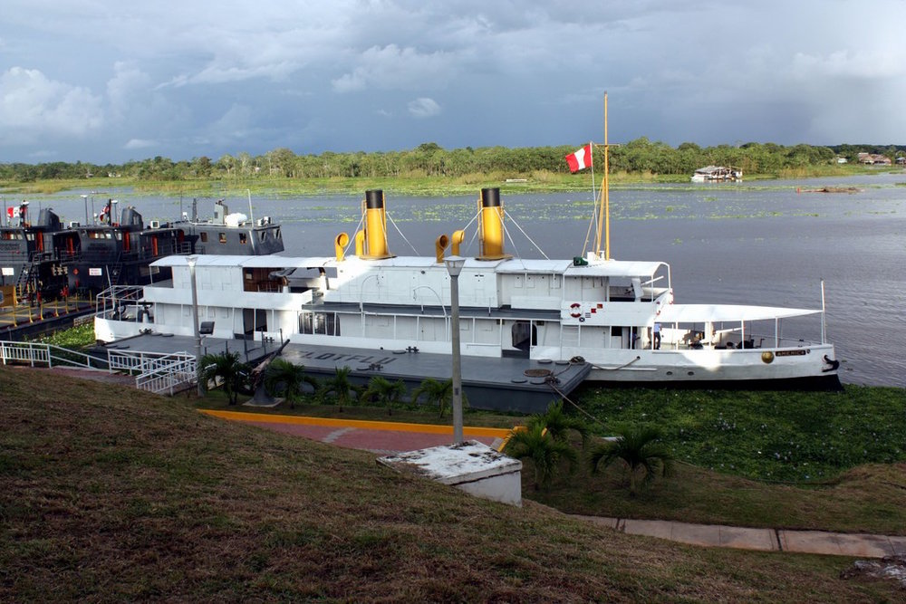 B.A.P America moored at Clavero Naval Base in Iquitos.