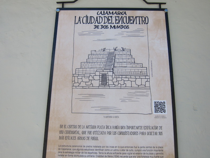 Cajamarca - History Board in Plaza de Armas