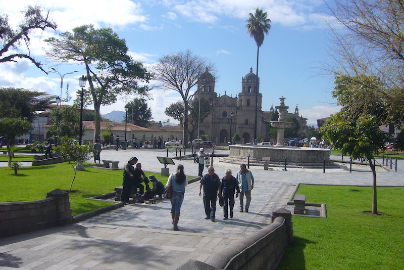 Cajamarca - Plaza de Armas & San Francisco Church.JPG
