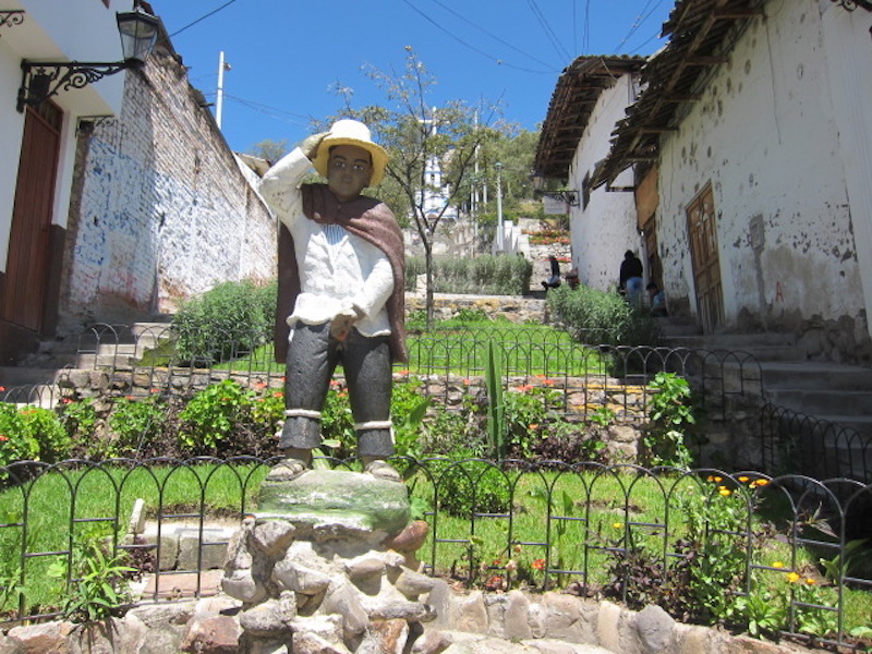 Cajamarca - Statue on Steps to Santa Apolonia.jpg