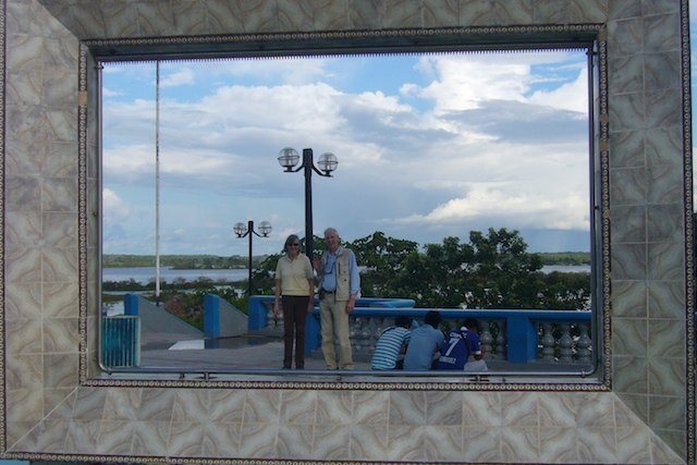 Iquitos, Loreto - Parents Framed on Malecon.JPG