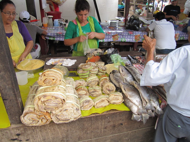 Iquitos, Loreto - Belen Floating Market - Fish Stall.JPG