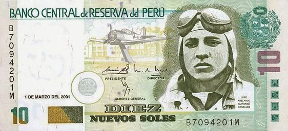 Jose Quiñones - Chiclayo Airport - 10 Soles Note