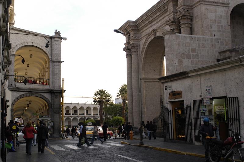 Arequipa & Colca Canyon 4D - San Francisco & Corner of Plaza de Armas.jpg