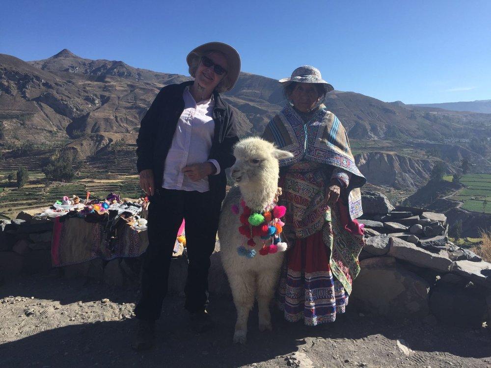 Dallas, Elana x 2 - Arequipa & Colca - Alpaca Lady.jpg