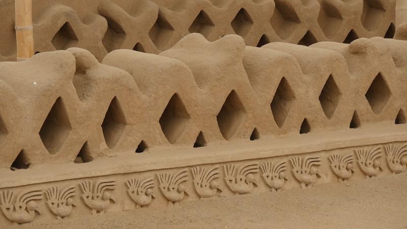 Chiclayo - Trujillo - Chan Chan Sea Bird Carvings under Niches.JPG