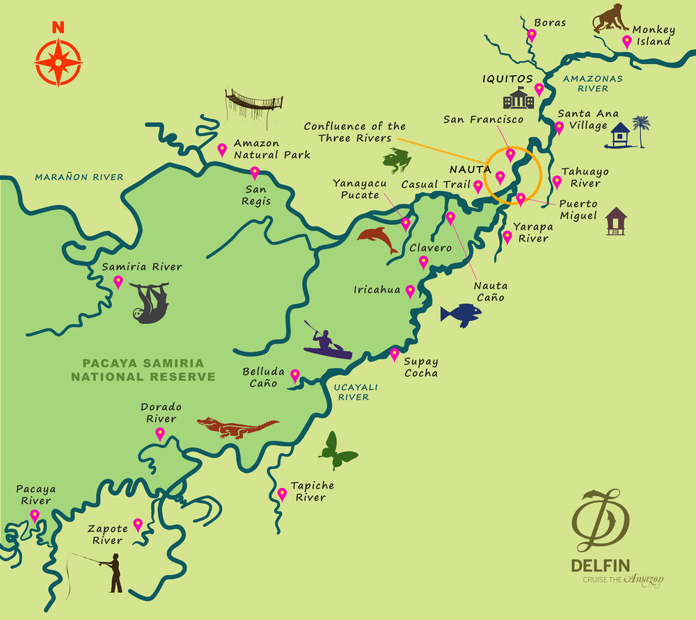 Delfin Amazon Route Map - Delfin III