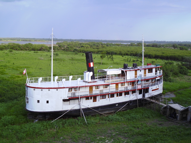 The Ayapua, now a living museum in Iquitos.