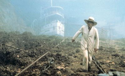 A still from the film Fitzcarraldo.