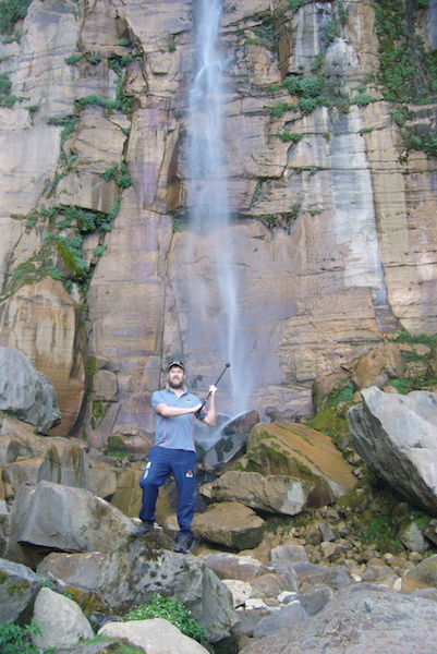 Hike to Yumbilla Waterfall, Cuispes - Bottom of Falls.JPG