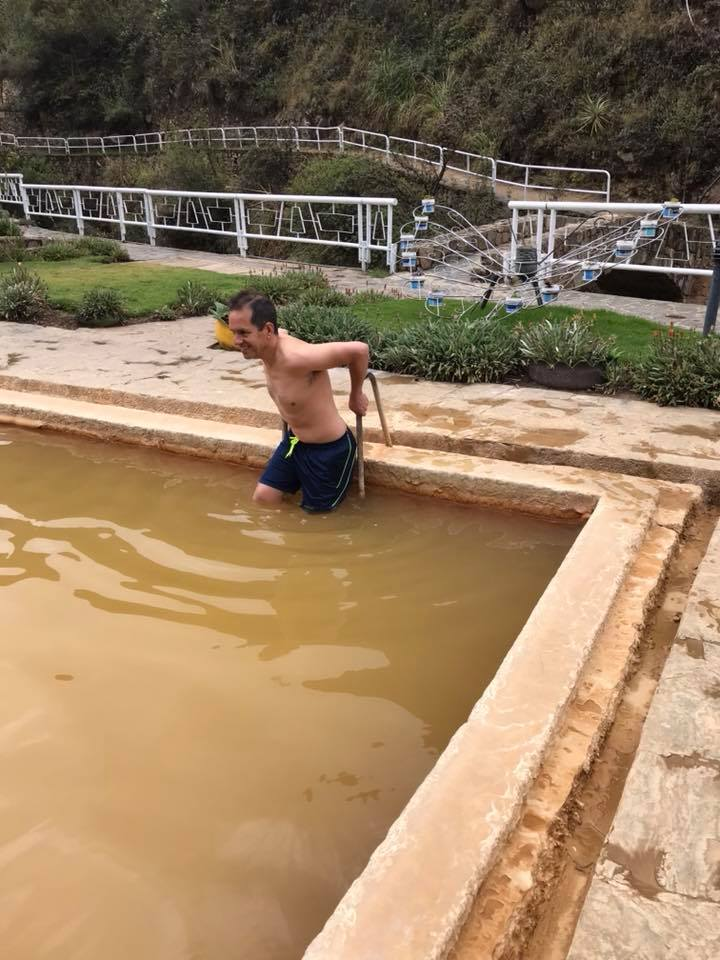 The  Lares trek  started well. We had a 3 hrs drive to the Lares hot spring, and had lunch there. Andy took advantage of the hot spring but I wasn't too keen on getting wet!