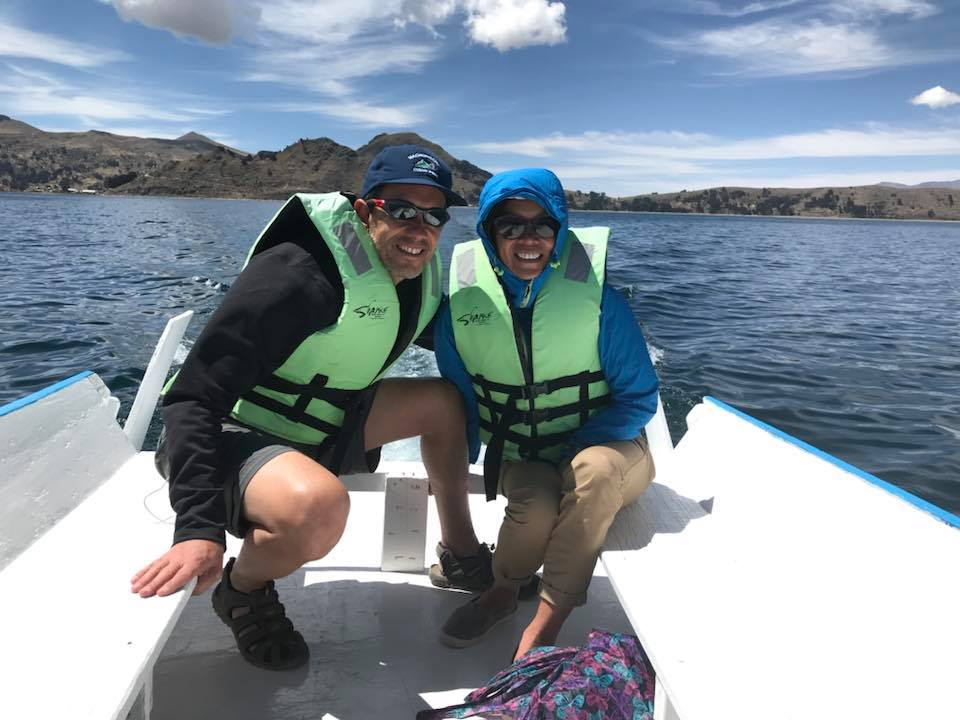 We were in for a surprise. We went to Sun island 🌴 and Moon Island today and it is such a gem. We had an hour and a half ride on Lake Titicaca, (Bolivian side) the highest navigable lake in the world, on a private boat 🚣 to Sun Island first and 45 minutes to Moon Island after.