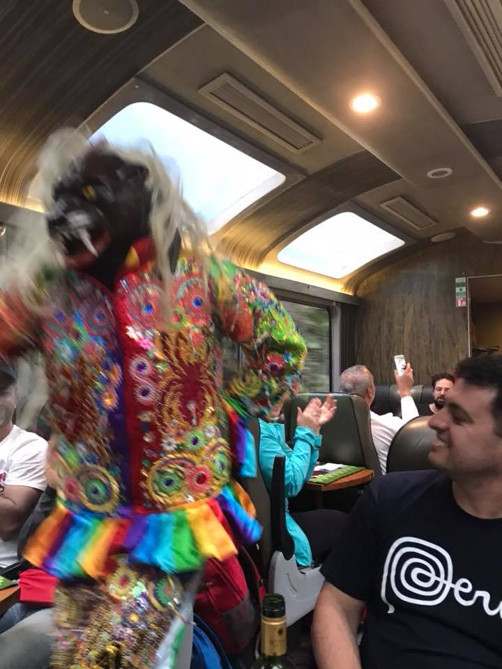 Took a 4 hrs train back to Cusco late afternoon and had an entertaining ride!