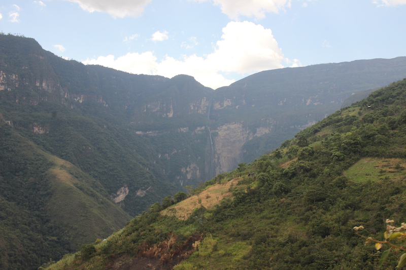 The two drops of Gocta Falls in the distance.
