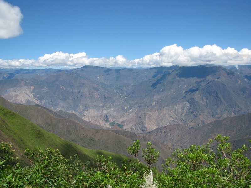 View over the Marañon Valley.