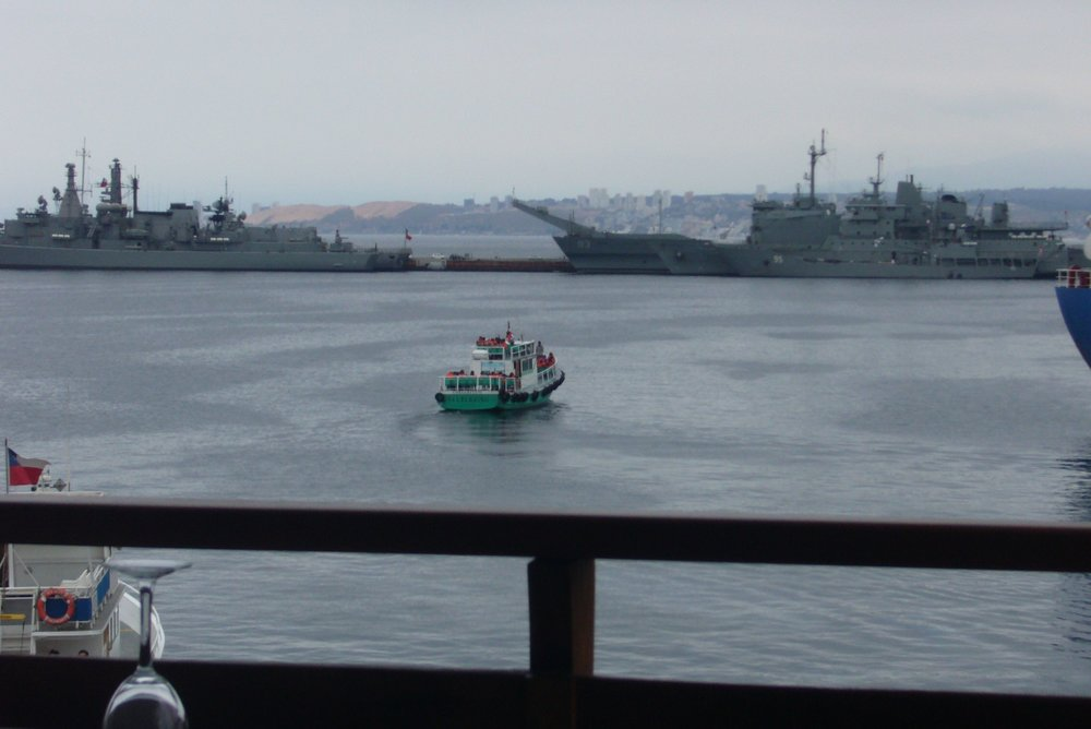 Valparaiso port is home to much of Chile's navy.