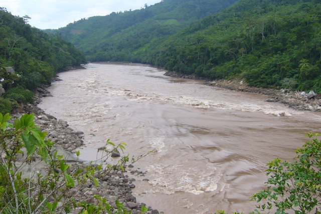 The Huallaga River, a tributary of the Amazon.