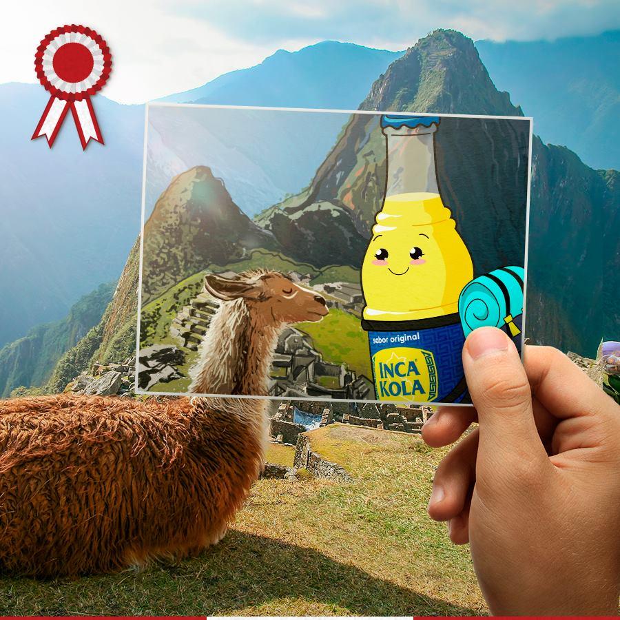 Using Machu Picchu llama for advertising purposes.