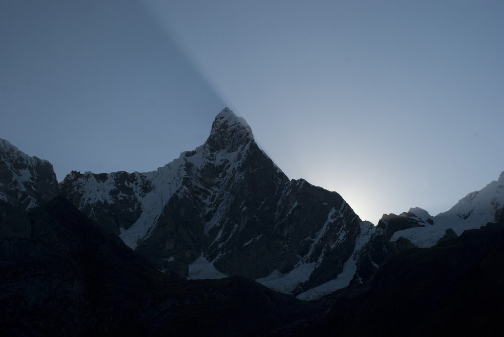 Sunrise in the  Cordillera Huayhuash .