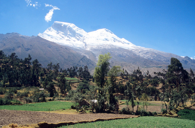 Mt. Huascaran, Peru's highest peak.