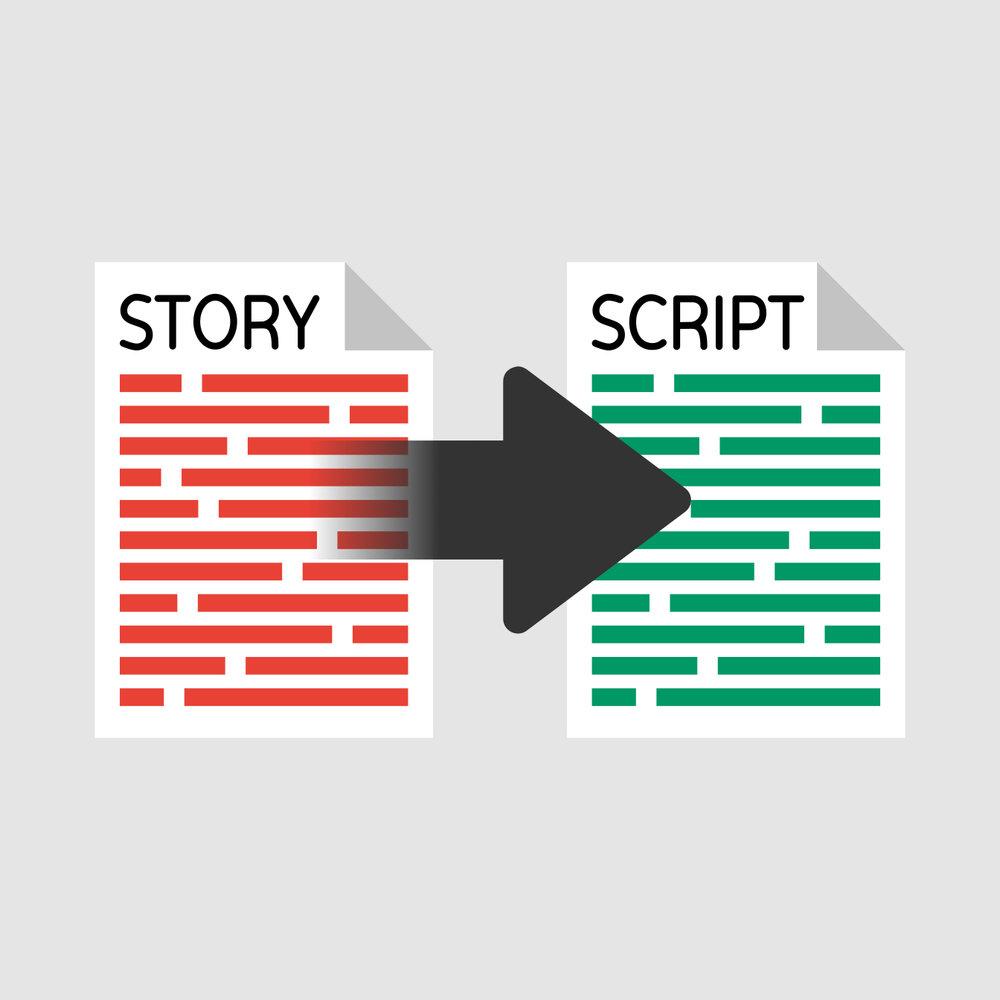 Stap 1. Het Verhaal   Samen bepalen we welk verhaal wij gaan vertellen, voor wie en waarom. Dit verhaal zetten wij om in een script dat kan worden ingesproken door een voice-over.