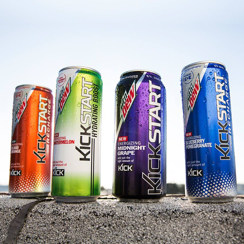 Mountain Dew Kickstart Energy Drinks are only $1.99 or 2 for $3.19 plus tax. Mix or Match