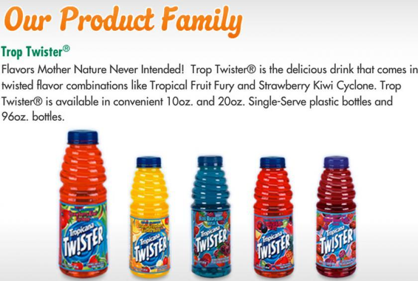 Tropicana Twist comes in five great flavors. Mix or Match for only $1.49 or 2 for $2.00 plus tax