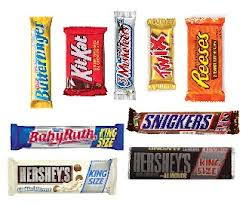 KING SIZE Candy Bars. Mix or Match. One for now and one for later. $1.99 each or 2 for $3.33 plus tax