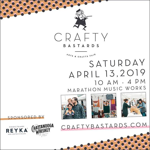 Wondering what to do with your rainy Saturday? We've got your answer! @craftybastards is holding a special Spring Market TOMORROW (Saturday) ONLY at Marathon Music Works! ⠀⠀⠀⠀⠀⠀⠀⠀⠀ We are so pumped to be back at this wonderful event and to kick off our spring season with them! ⠀⠀⠀⠀⠀⠀⠀⠀⠀ Stay dry this weekend and come see us and a ton of other rad local artists tomorrow, Saturday April 13th from 10am-4pm!
