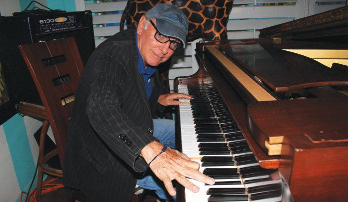 David Paladino playing piano at Blue Front in Lake Worth – Photo © WPB Magazine