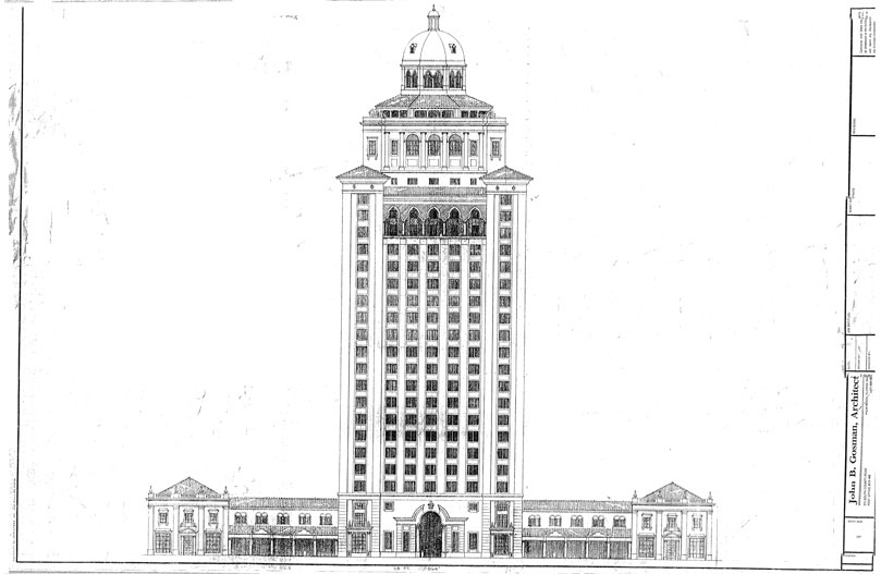 A John Gosman designed masterpiece that was to be the focal point building of Downtown Uptown. The skyscraper was to be an office building meant to attract a major corporate relocation.