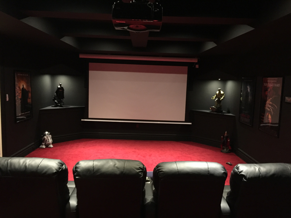 PICTURE TAKEN BY MICHAEL UCCELLO OF CARLO TAURASI'S HOME THEATRE