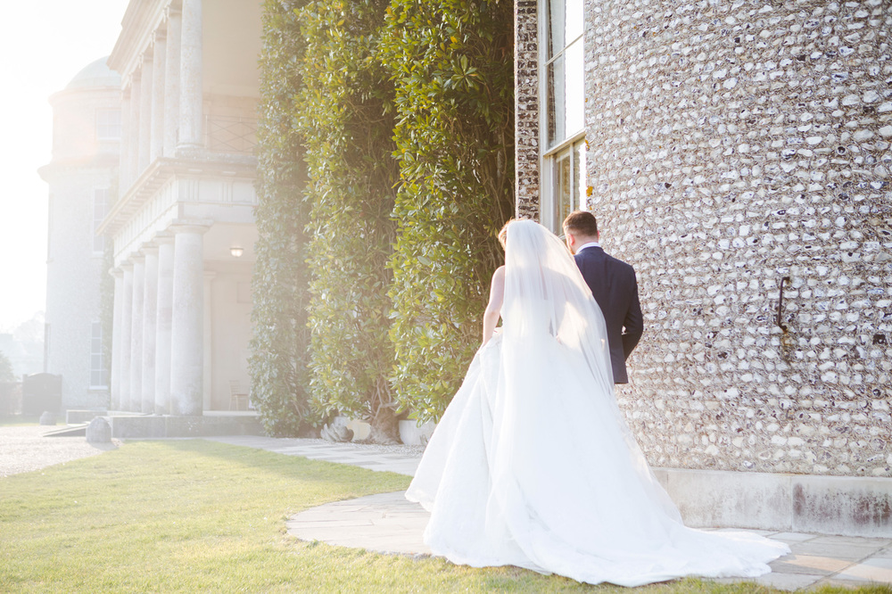 Bride and Groom Sunset at Goodwood House