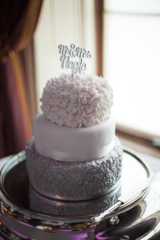 Homemade DIY Wedding Cake