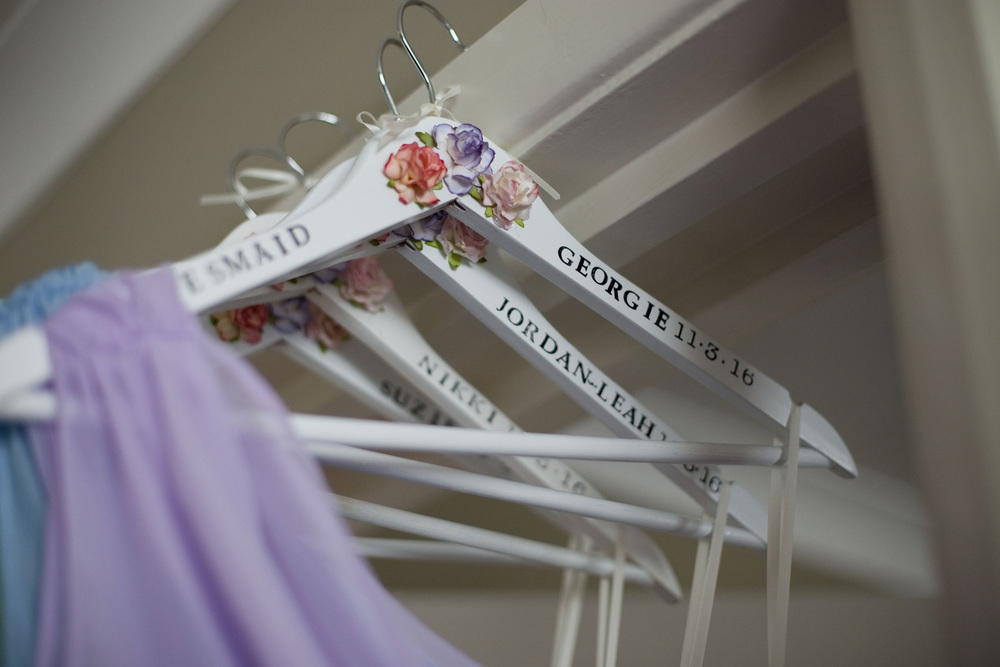 Personalised Hangers Wedding Photography