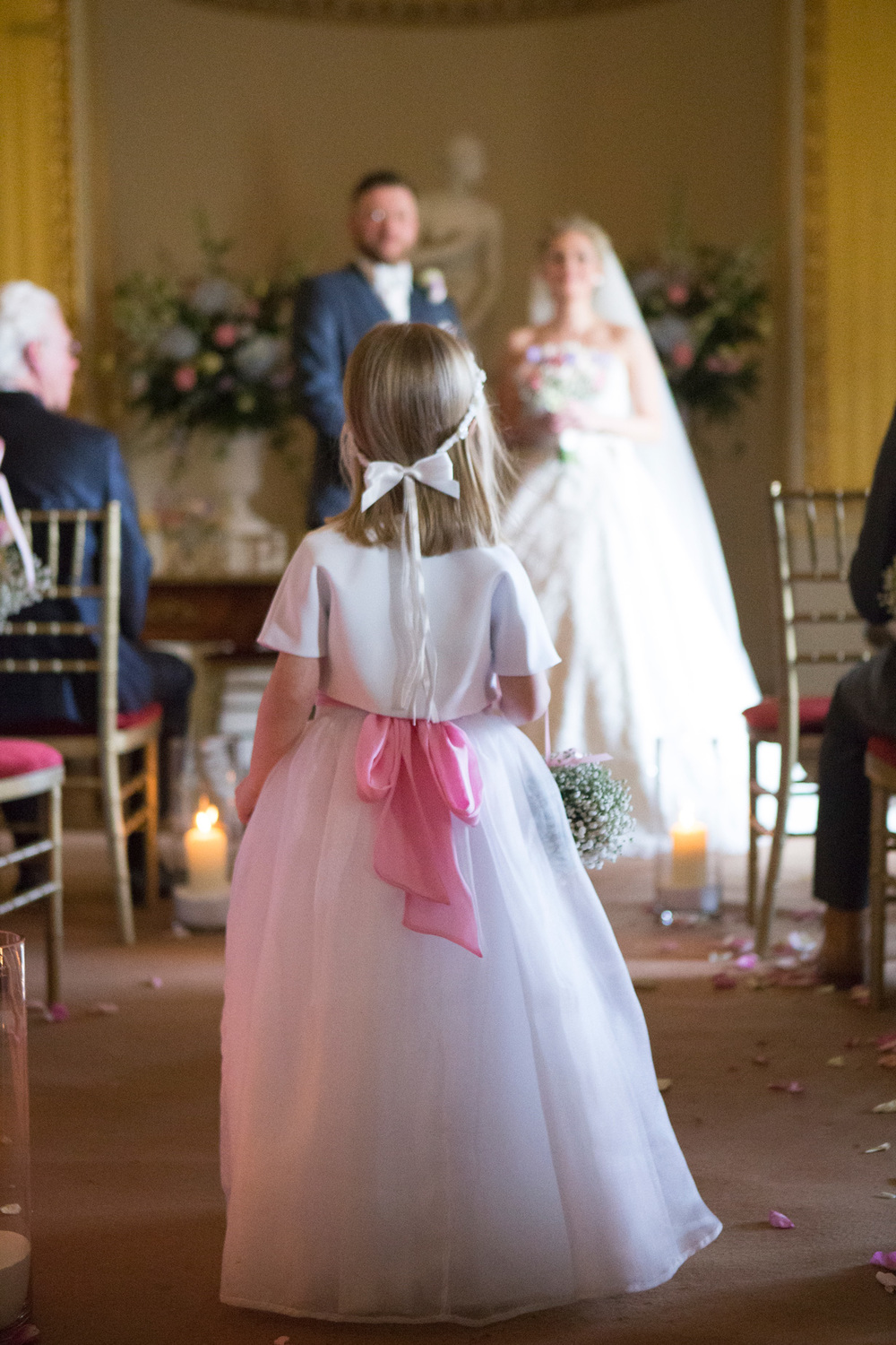 Flower Girl Goodwood House Wedding