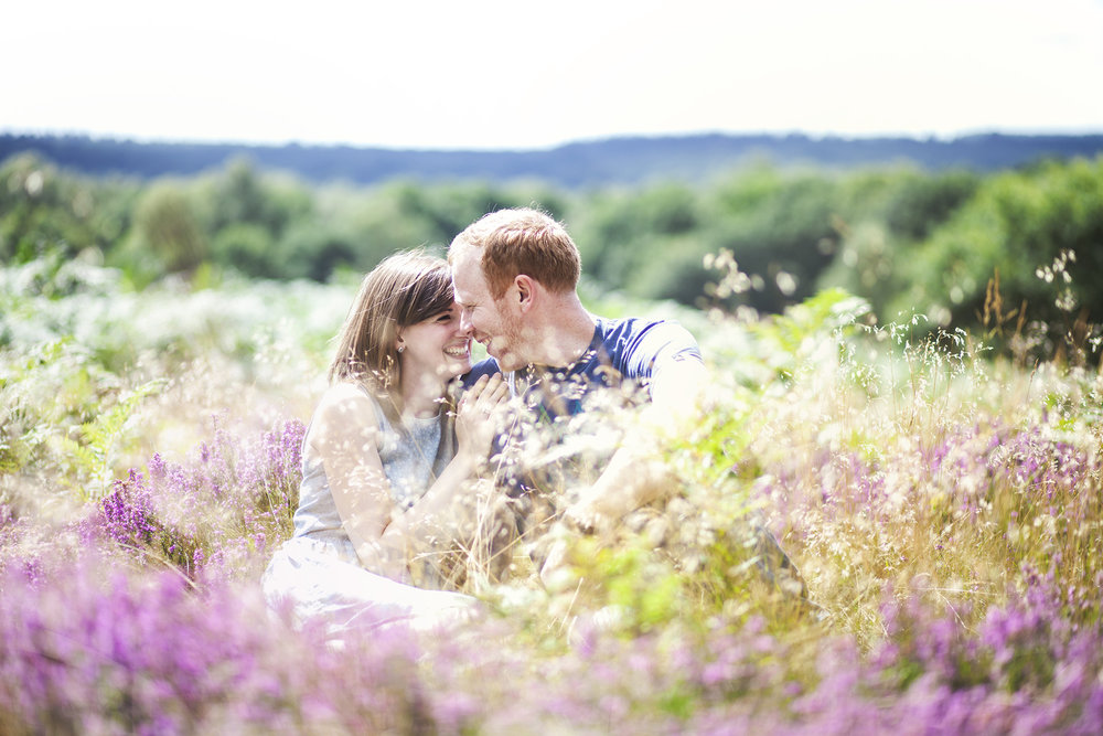 natural engagement shoot