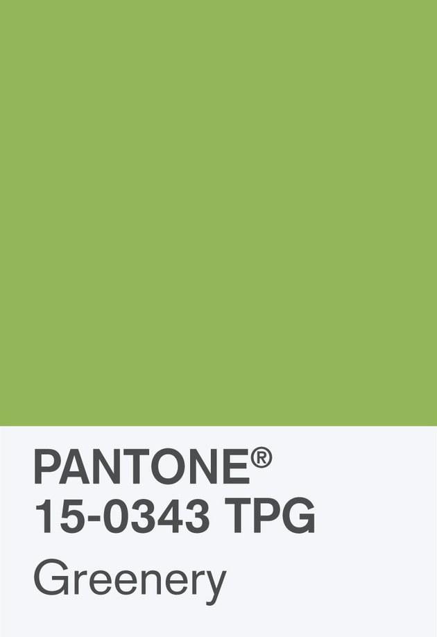 Pantone 2017 Greenery example
