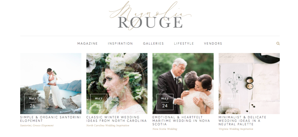 Magnolia Rouge, wedding blog.
