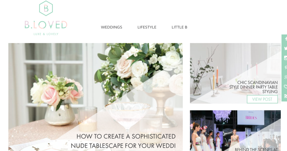 BlovedBlog, Luxury wedding blog.