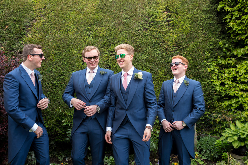 groomsmen, party, summer wedding,