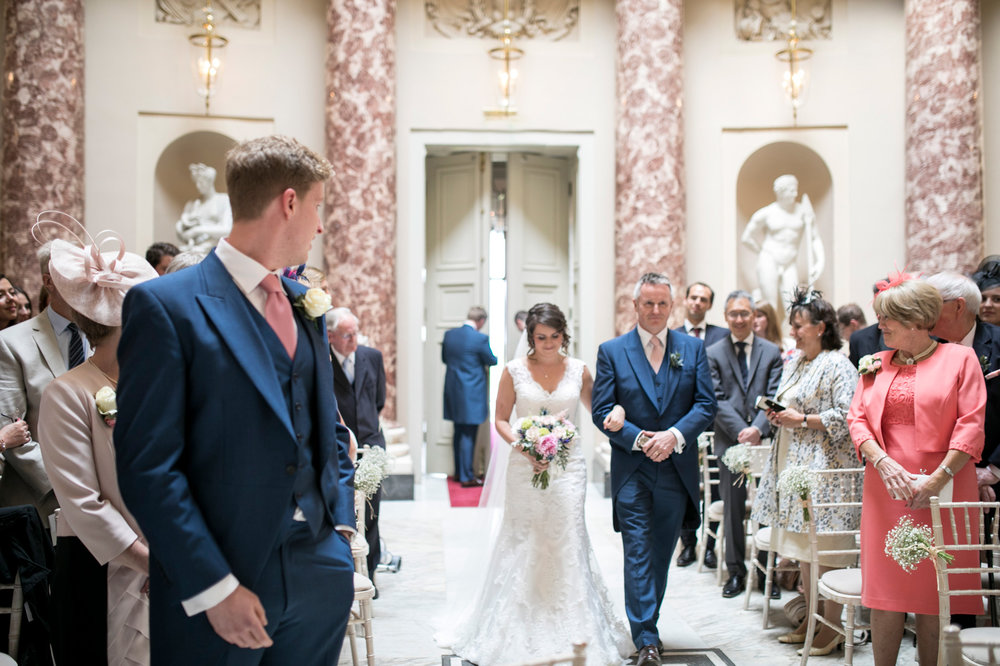 Ceremony, Stowe School, Luxury Buckinghamshire Wedding,