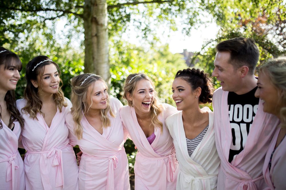 girls, morning, buckinghamshire wedding photographer, horwood house, bridesmaids hair,
