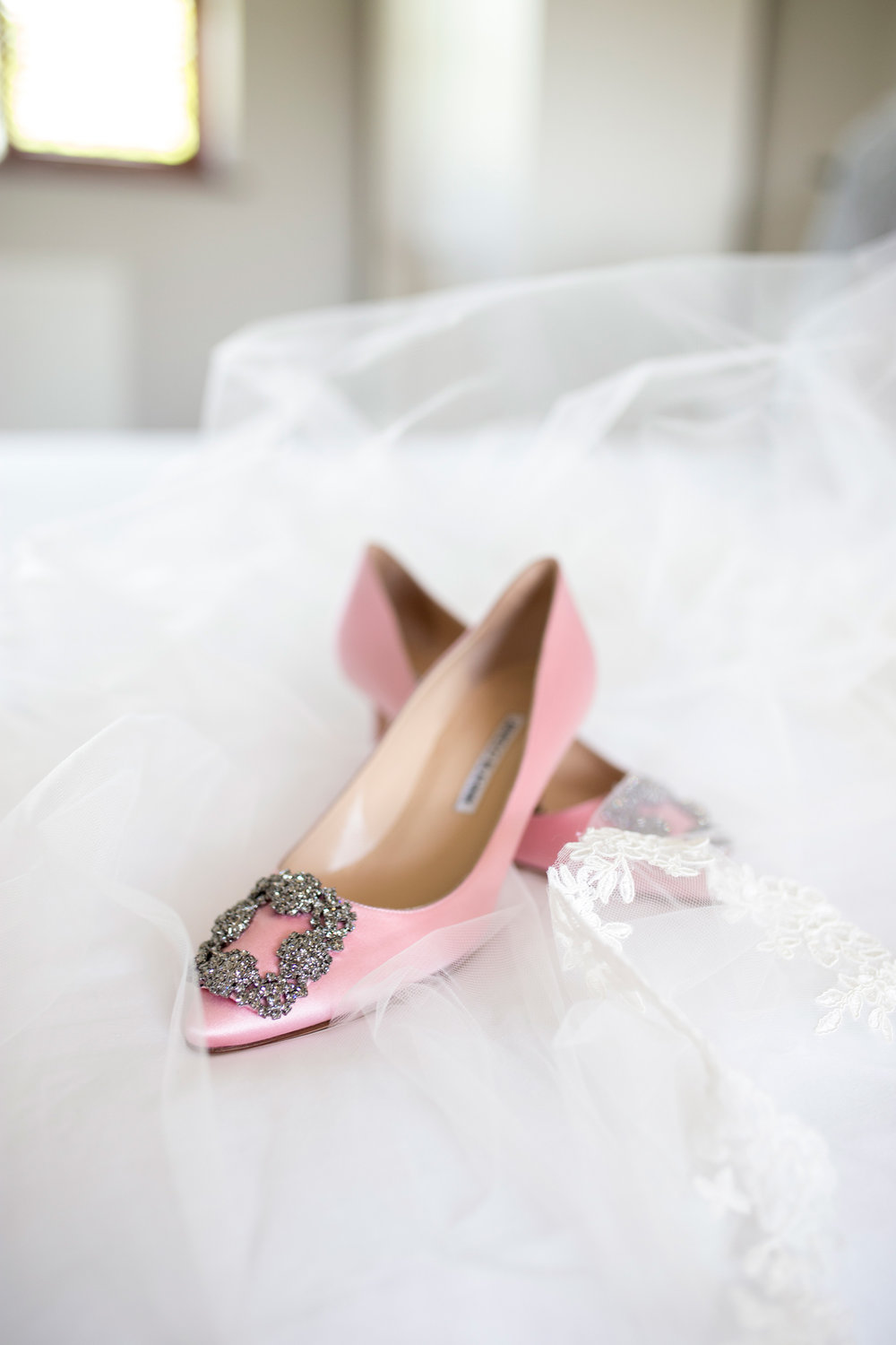 Manolo Blahnik, Wedding Shoes, Pink Shoes, Wedding Details, Buckinghamshire Wedding,